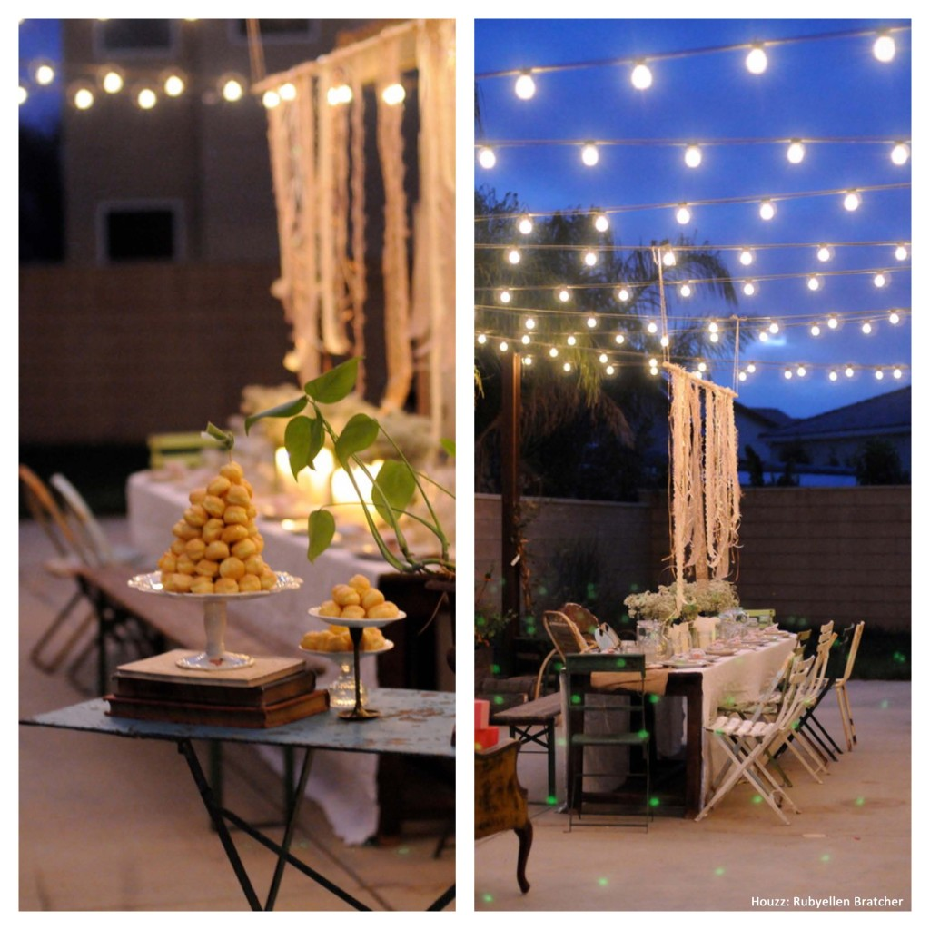 Backyard party ideas picframe - outdoor living spaces - homes by tradition