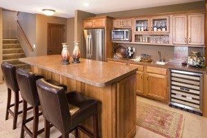 Appliances appeal function in custom homes homes by for Home wet bar dimensions