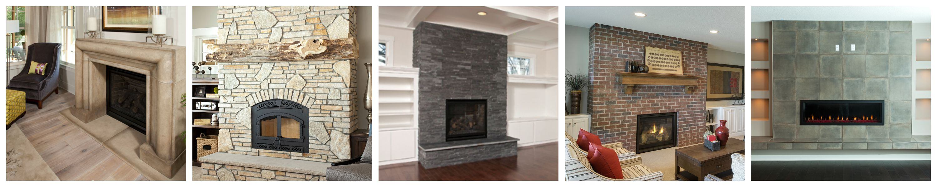 Fireplace surrounds homes by tradition for Fireplace material options