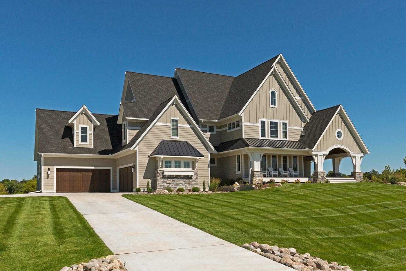 Custom home exteriors custom home builders new home for Custom home build