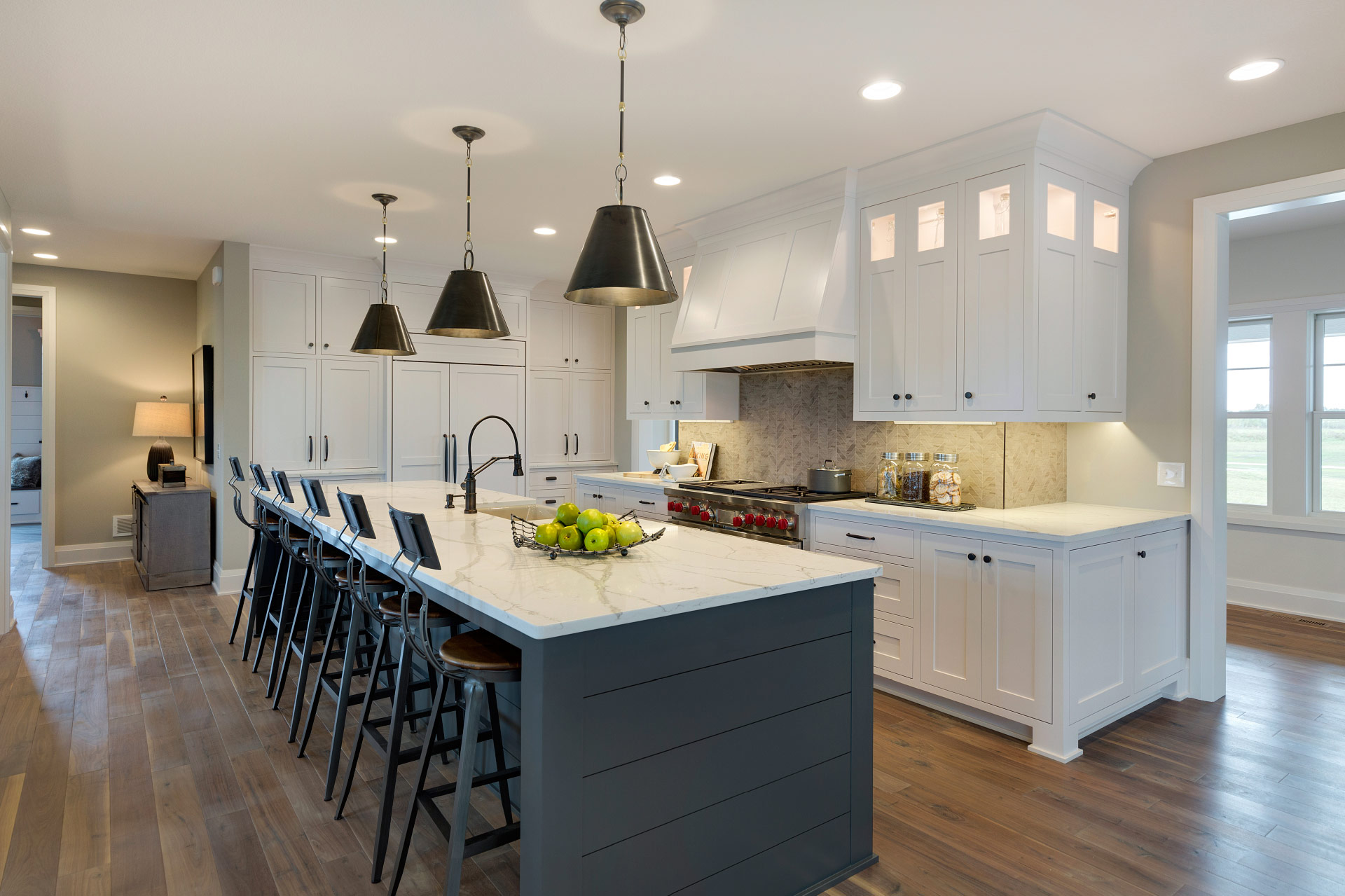 Custom home builders new home communities in lakeville for Urban farmhouse kitchen