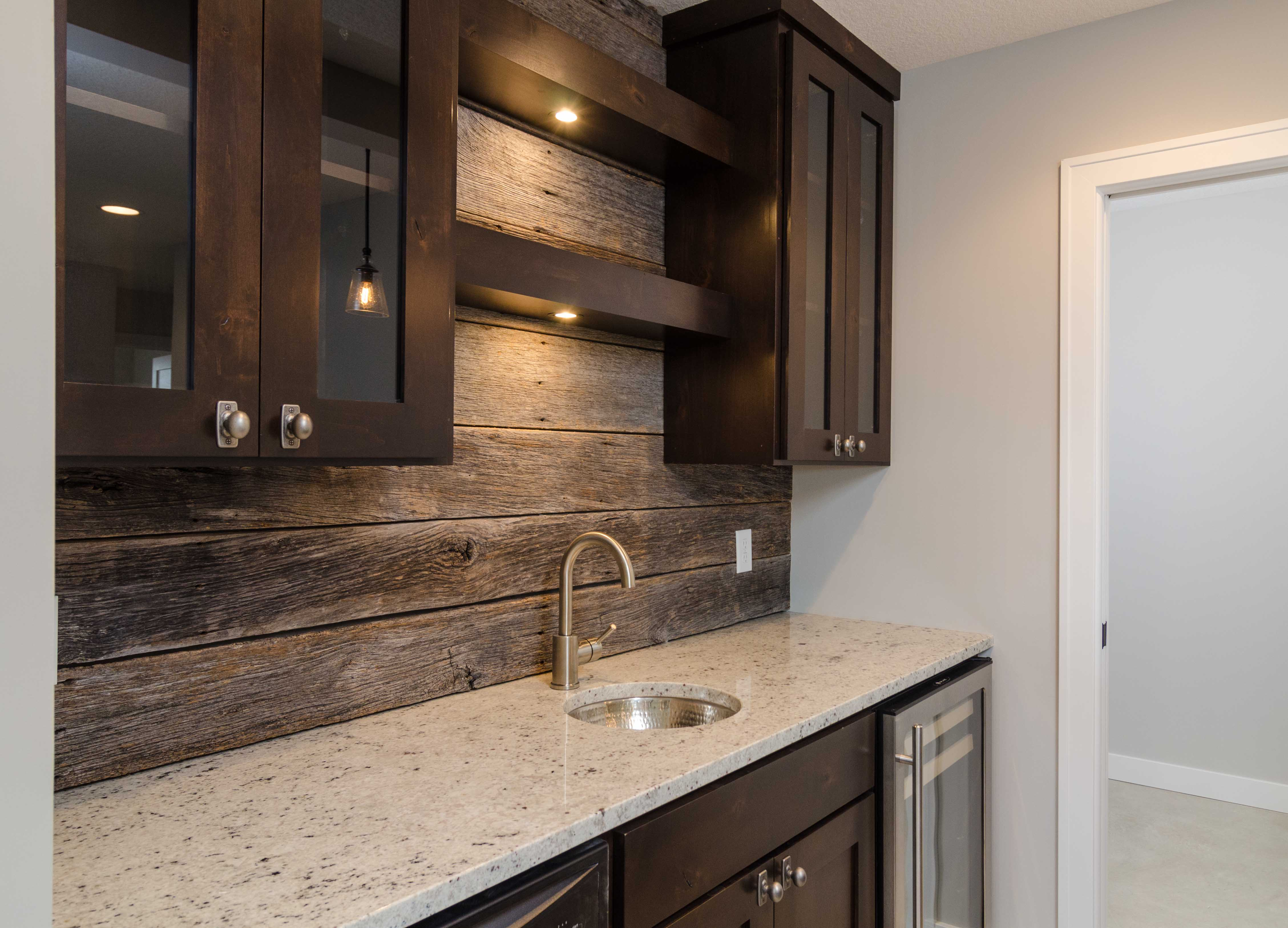 - Custom Home - Lower Level Bar - Custom Home Builders & New Home