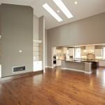 vaulted great room custom home mn
