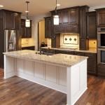 custom home dark kitchen mn