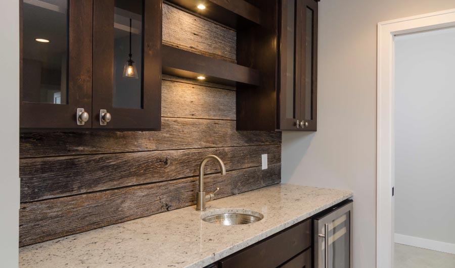 Wood Tile Backsplash Kitchen